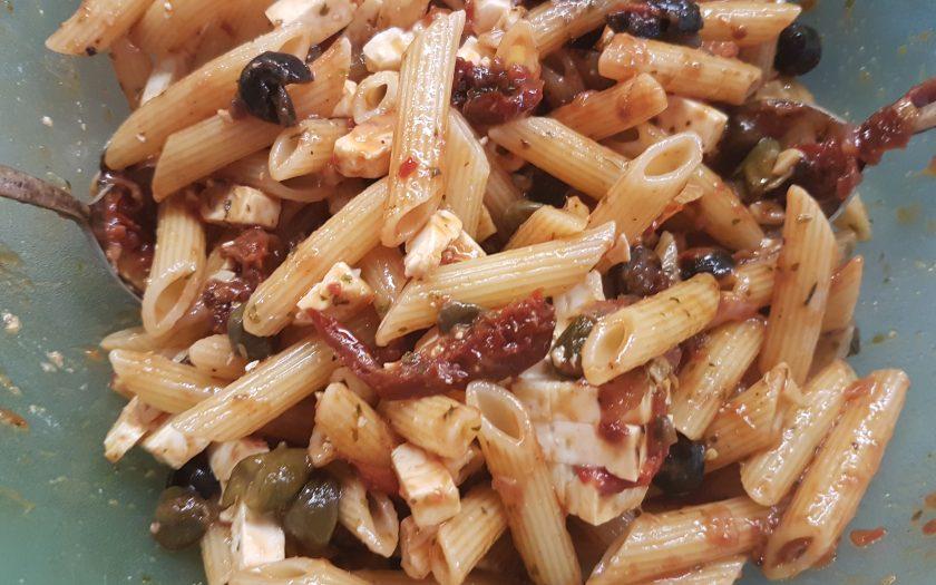 Nudelsalat Mit Feta Und Getrockneten Tomaten Beate Kocht